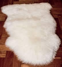 sheepskin floor rug