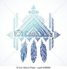Aztec Dream Catcher Tattoo Extraordinary Vector Aztec Mexican Tribal Ornament Dream Catcher African Ethnic