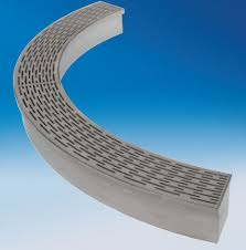 drainage channel with grating radius