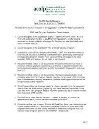 Application Letter Residency