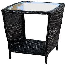 easton outdoor wicker accent table black