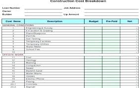 Home Construction Estimator Excel Home Building Cost Breakdown Spreadsheet Best Of Residential