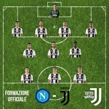 Napoli-Juve. FORMAZIONE UFFICIALE JUVENTUS