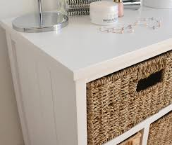 white storage unit wicker: tetbury storage unit large chest of drawers storage baskets fully assembled