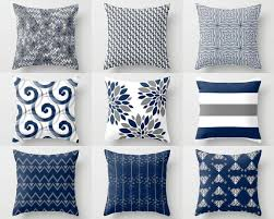 Throw Pillow Cover Designs Throw Pillow Cover Pillow Covers Navy White Grey Accent