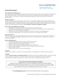 Actuary Resume 16 Objective Examples Techtrontechnologies Com