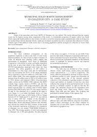 pdf munil solid waste management in