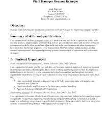 cover letter for manufacturing jobs resume resume for manufacturing job project manager engineering