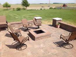 Square Fire Pit on Square Patio Archadeck Outdoor Living