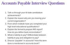 15 Best Accounting Interview Questions Images Accounting Interview