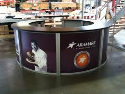 Circular Display Stands Best Exhibit Design Search REDH32 Circular Counter Rental