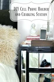 diy charging station this cell phone holder and is a great last minute gift idea wood diy charging station
