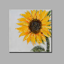 sunflowers floral oil painting canvas wall art with stretched frame ready to hang on sunflower wall art canvas with sunflowers floral oil painting canvas wall art with stretched frame