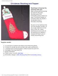 Embroidery Library Christmas Designs Christmas Stocking And Topper Manualzz Com