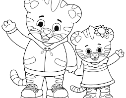 Prissy Design Free Printable Daniel Tiger Coloring Pages And His