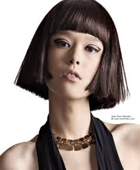 Hair Style For Asians blunt asian bob hairstyle with a rounded fringe that follows the 7961 by stevesalt.us