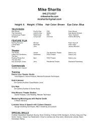 Actors Resume Actors Resume Examples 40