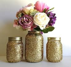 Decorated Jars For Weddings golden mason jar wedding decorations Jar Wedding and Craft 24