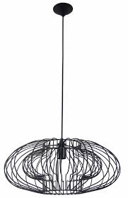 geometric pendant light black 500mmØ e27