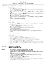 Scheduler Planner Resume Samples Velvet Jobs