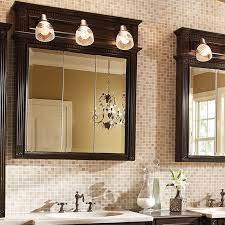 Tri View With Lights Bathroom Storage Bertch Cabinet Manufacturing