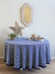 blue tablecloth batik tablecloth india tablecloth 90 round tablecloth 70 round tablecloths saffron marigold