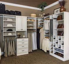 combination suspended and floor based closet system manufactired at plus closets