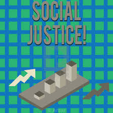 Justice Stock Chart Text Sign Showing Social Justice Conceptual Photo Equal