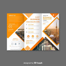 Ebrochure Template Trifold Business Brochure Template Vector Free Download