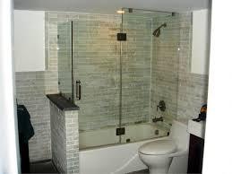 bathtub doors beautiful bathroom setting with rectangle tile wall white tub and frameless glass door
