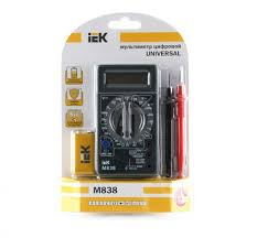 <b>Мультиметр</b> цифровой <b>IEK Universal M838</b> - купить в Краснодар ...