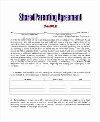 Custody Agreement Ontario Template Child Custody Agreement Template