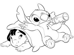 Babydisneycoloringpages And Stitch Coloring Pages Free