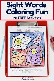 Print them all for free! Sight Words Coloring Pages For Fantastic Reading Fun Rock Your Homeschool