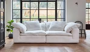 feather extra deep fabric sofa