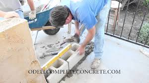 how to build and extend an existing block wall odell plete concrete
