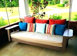 hanging porch bed plans outdoor swing plan daybed diy
