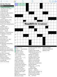 Easy teen crossword puzzle