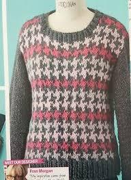 Houndstooth Knitting Pattern Chart Knitting Pattern Ladies Houndstooth Long Fingerless Gloves