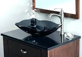 glass vessel sink vanity bathroom bowls modern bowl with