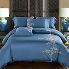 cotton coffee embroidery luxury oriental bedding set king queen size bed duvet cover pillowcases asian comforter