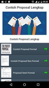 Pengertian proposal ialah suatu rencana yang dituangkan dalam bentuk rancangan kegiatan dalam … Kumpulan Contoh Proposal Terlengkap For Android Apk Download