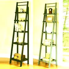 wooden ladder bookshelf old