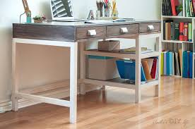 how to build a desk make a modern farmhouse desk with storage free plans