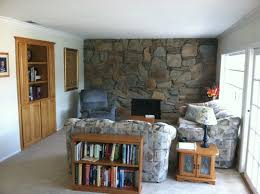 Small Picture Huge fireplace rock wall and no real walls what to do