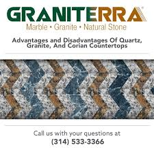 advantages and disadvantages of quartz granite and corian countertops