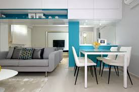 elegant tv and small dining room decoration in modern living room