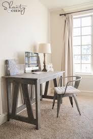 diy rustic truss desk plans