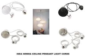 ikea hemma ceiling cord pendant light fitting choice single double triple b786