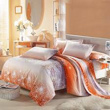 awesome amazing asian cherry blossom 100 cotton bedding sets in grey orange bedding sets plan